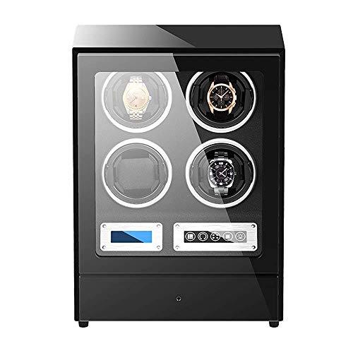 Remontoir automatique pour montre Box 4 Avec tiroir de Rangement Avec écran Tactile Oreillers de montre réglables Double Alimentation Remontoir de montre