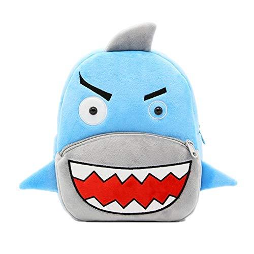 Mochila Preescolar Anti-Perdida Mochilas De Tela Infantiles Felpa Mochila NiñO 5 AñOs Suave Y Confortable Mochilas Infantiles Personalizadas Shark
