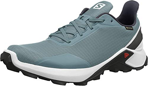 Salomon Herren Trail Running Schuhe, ALPHACROSS GTX, Farbe: blau (Smoke Blue/White/India Ink) Größe: EU 44