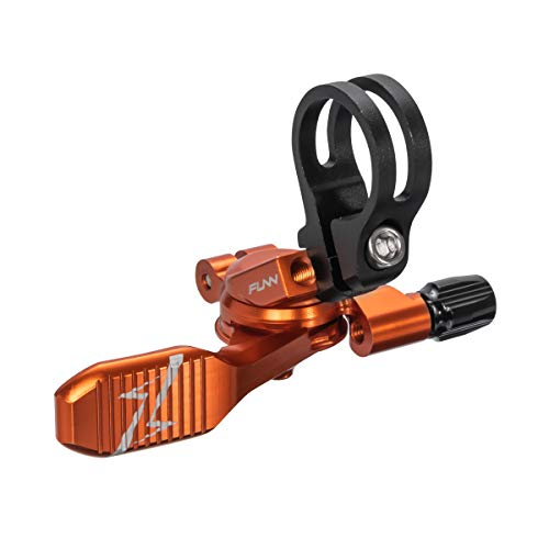 Funn UpDown Mountain Bike Dropper Seatpost Remote Lever with Smooth, Easy-to-use Action, 4-Way Mount, Full CNC Finish, Lightweight and Stiff (Orange)