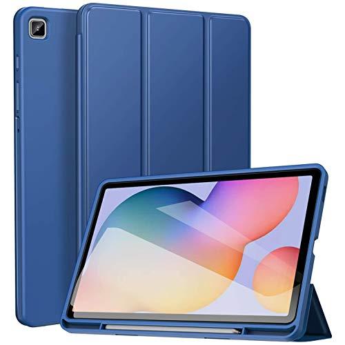 ZtotopCase Hoes voor Samsung Galaxy Tab S6 Lite 10.4 2020, Smart Cover, con pennenhouder, con funzione automatica slaap waakfunctie, voor Galaxy Tab S6 Lite Tablet da 10,4 pollici, colore: blu