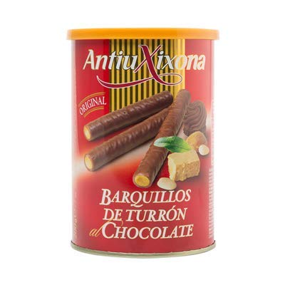 Antiu Xixona - Barquillos de Turron Bañados en Chocolates - Un Poco de Dulzura a Tus Dias - 200 Gramos