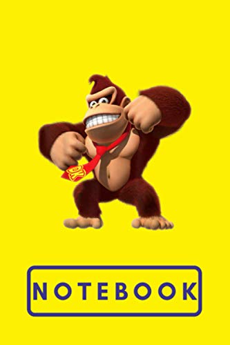 Composition: Donkey Kong Country tropical Freeze Notebook Wide Ruled 7.5 x 9.25 in, 100 pages book for girls, kids, school, students and teachers
