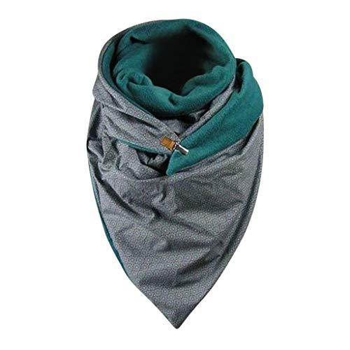 Lomelomme Winter Schal Damen Herren Dreieckschal großen Persönlichkeit Mode Warme Schal Mit Knöpfen Lieblingsschal Herbstschal Scarf 2020 Neu