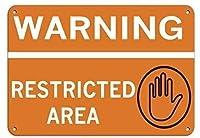 金属ティンサイン装飾鉄絵、警告制限区域セキュリティサイン、錫壁サインレトロ鉄絵ヴィンテージメタルプラーク装飾ポスターバーカフェストアホームヤード