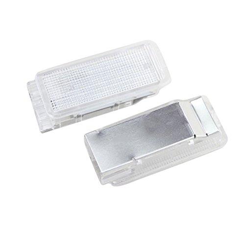 PerGrate Lot de 2 lampes LED pour coffre de Peugeot 1007 206 207 306 307 308 406 407 RCZ