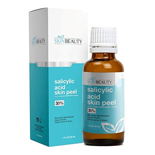 SALICYLIC Acid Peel 30% Chemical Peel with Beta Hydroxy BHA For Rosacea, Blackheads, Whiteheads, Clogged Pores, Seborrheic Keratosis, Wart Remover, Dandruff, Bumpy Oily Acne Skin (1 oz / 30ml)
