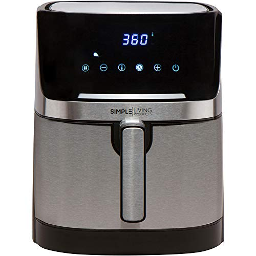 Simple Living Products xl 5.8 Quart Air fryer with Stainless Steel Finish