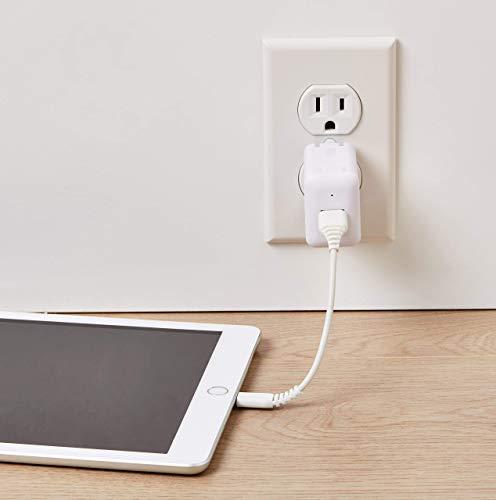 Amazon Basics Lightning auf USB A Kabel, Apple MFi Zertifiziert - Weiß, 0,9 m, 2er Pack