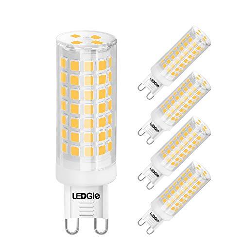 LEDGLE 8W G9 LED Lampe, LED Glühbirnen, 88LEDS,700lm, Warmweiß, 3000K, Dimmbar, kein Flimmern, Weitwinkel, ersetzt 80W Halogenlampen, 5er