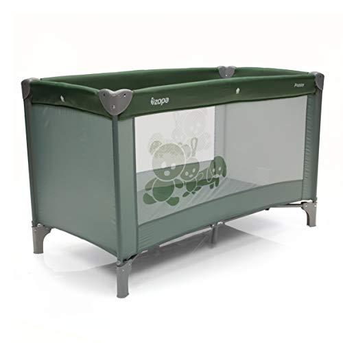 ZOPA - Cuna de viaje (120 x 60 cm) verde Forest Green