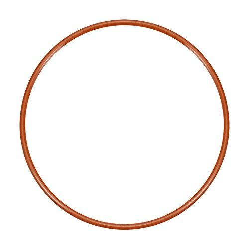 sourcing map 1pcs Silikon O-Ring 80mmx75,2mmx2,4mm VMQ Dichtring Dichtungsring Dichtung rot DE de