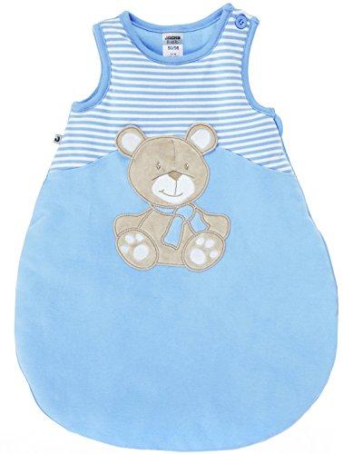 Jacky Baby Jungen Serie Bear Jeans Strampler Bodies Sets Schlafsäcke (50/56, Schlafsack ärmellos)