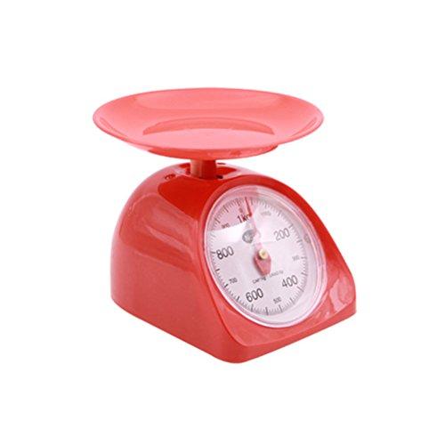 BESTONZON Balances de cuisine mécaniques 1KG rétro alimentaire pesant pour la cuisson au four (couleur aléatoire)