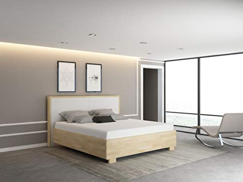 bellvita silverline Softside-Wasserbett Oslo mit Massivholz-Bettrahmen inkl. Lieferung & Aufbau durch Fachpersonal (200 x 200 cm, Beruhigung 95% ca. 0,5-1 Sek. Nachschwingzeit)