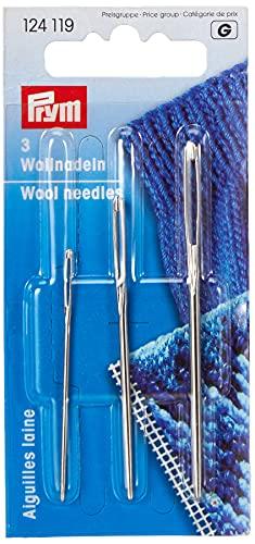 Prym 124119 Woll-und Smyrna-Nadeln ohne Spitze, ST 1+3 silber, 1 Stück