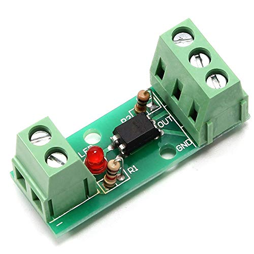 Optocoupler Isolation Board, Signal Converter Module Voltage Level Current Voltage Converter Module 80KHz 1-Channel Optocoupler Photoelectric Optical Isolator Module Input Optoisolator 12V PC817 EL817