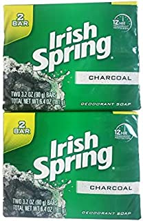 Irish Spring Charcoal Soap - 4 bars (Two 2-packs)