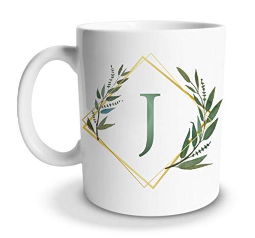 tassenprinter Buchstaben Kaffee-Tasse 300ml Alphabet Initial Watercolor Kaffeetasse weiß Geschenk Geburtstag Geschenkidee Jahrestag