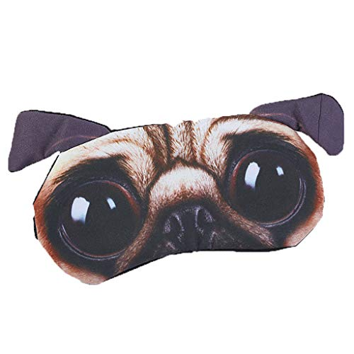 TIREOW Masque de glace pour animaux artificiels Mignon Animal Eyes Couverture Animal Eye Mask Couverture Dormir Repos Sommeil Drôle Cadeau (D)