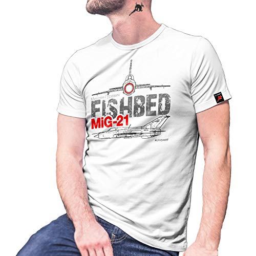 Mikojan Gurewitsch MiG-21 Fishbed Vliegtuig Sovjet-Unie Afvangjager T-shirt #25412