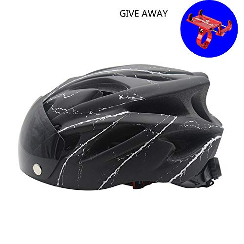Mountain Bike Helmet MTB Road Bicycle Cycling Downhill Helmets with Camera Mount for Adult Men/Women (57-62Cm / 22.44-24.41In) Gift:1 Random Color Bicycle Phone Holder,E