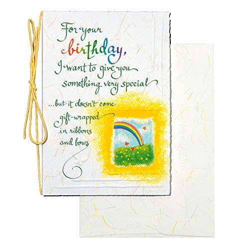 "Blue Mountain Arts Greeting Card ""For Your Birthday"" is Perfect For Wishing A Family member, Friend, or Someone Incredibly Special To You A Very Happy Birthday, 4.8' x 6.9'"