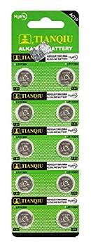 Tianqiu AG10 LR1130 LR54 Button Cell Batteries [10-Pack]