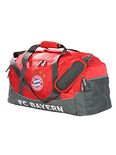 FC Bayern München Sporttasche, Training Tasche rot mit großem Hauptfach