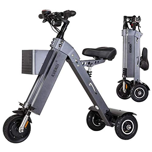 Large Portable Chainless Folding Electric Car Outdoors Smart Mini Walker Tricycle Faul Artifact Electric Car Scooter Mountain Bike,Gray