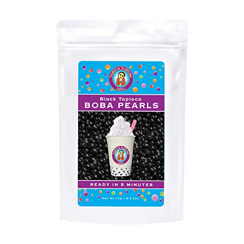 Boba / Black Tapioca Pearls By Buddha Bubbles Boba 1 Kilo (2.2 Pounds) | (1000 Grams)