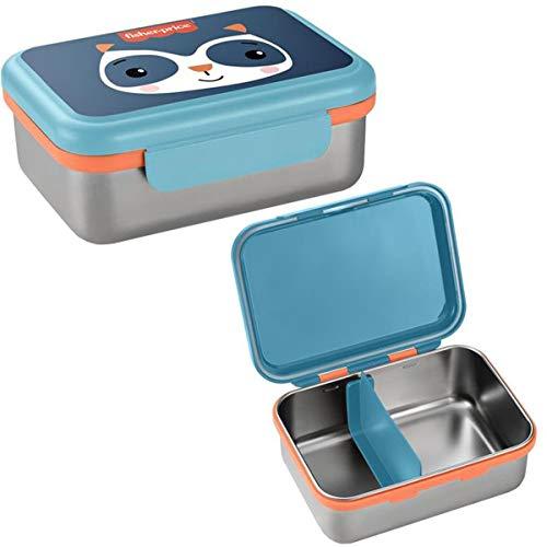 Bento Box Aço Inox Hot & Cold Fisher Price Azul - BB1092
