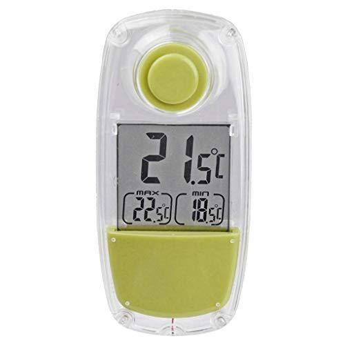 PRENKIN Solar Powered Innen-LCD Digital Window Thermometer Täglich Max/Min Satzanzeige Temperaturmessgerät