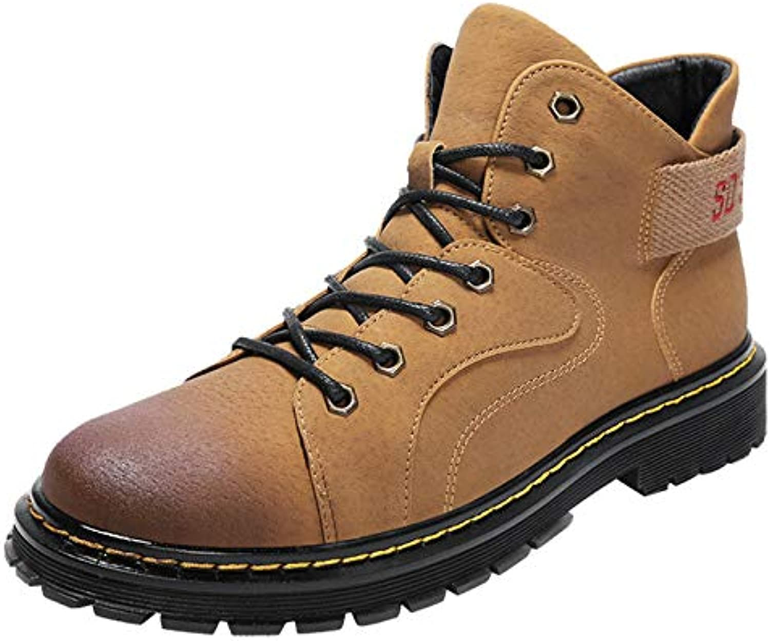 LOVDRAM Boots Men's shoes Autumn And Winter Models High Help Martin Boots Pig Bago Men'S Casual shoes Fashion Wild