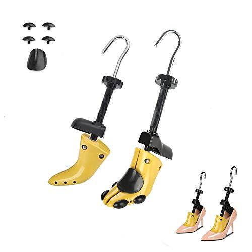 Albero Scarpa in Plastica,1 Paio di Scarpa Regolabile Albero Scarpa Regolabile con Corno Scarpa per Uomo e Donna Giallo 34-47