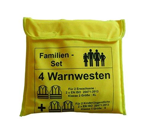 RAU KFZ Warnwesten Set nach EN 20471 Familien Set