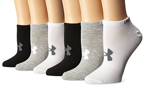 Under Armour UAW Solid 6 Pks No Show Calcetines sport, Mujer