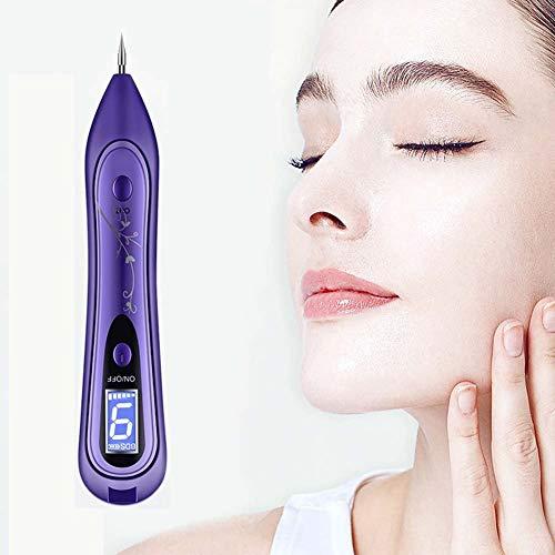 DBSCD Mole Removal Skin Tag Removal Pen USB wiederaufladbare tragbare 8 einstellbar mit LCD-Flüssigkristall-Monitor für Tattoo Nevus Sommersprossen Birth Mark