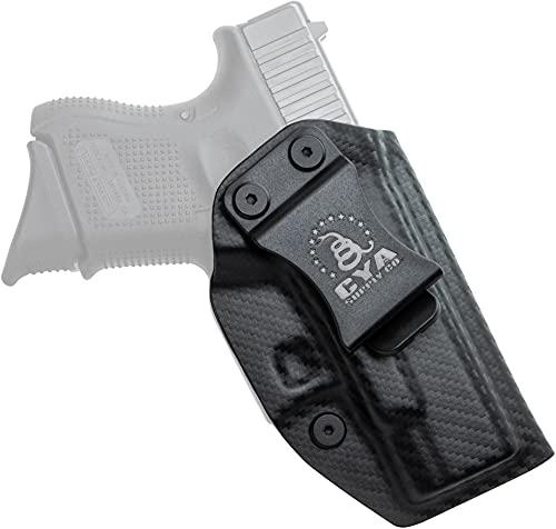 CYA Supply Co. Base Inside Waistband Holster (Carbon Fiber) Concealed Carry IWB Veteran Owned Company Fits Glock 26 Gen 3-5 Glock 27 / 33 Gen 3-4