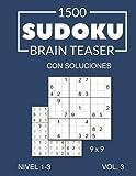 1500 Sudoku Brain Teaser 9x9 con soluciones Nivel 1-3 Vol. 3
