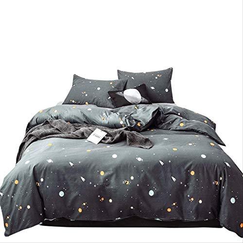 Costas De Almohadas Y Sábanas Cubierta De Hojas De Algodón De 4 Piezas/Patrón Cósmico/Soft Duvet Set Resistente A Fading/Microfibra Durbet Set Pillowcases Conjuntos