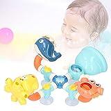 Juguete de baño para bebé, juguete de bañera de plástico colorido con ventosa para piscina para nadar para bañera para ducha(Splicing pipelines to turn fun)
