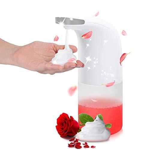 Beager Distributeur de savon Automatique Mousse Capteur sans contact 350 ml Distributeur pour cuisine de salle bains
