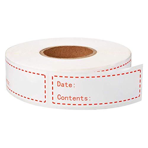 TOYANDONA 500 Stuks Etiketten Voor Voedselopslag Etiketten Voor Voedselrotatie Oplosbare Blanco Houdbaarheidslabels Voor Vriezer Glazen Metalen Plastic Containers