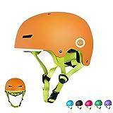 XJD Toddler Helmet Kids Bike Helmet Multi-Sport Cycling Helmet Adjustable Bicycle Helmet for Kids Child Safety Helmet Skateboard Longboard Roller Skate Inline Skating (Orange, S)