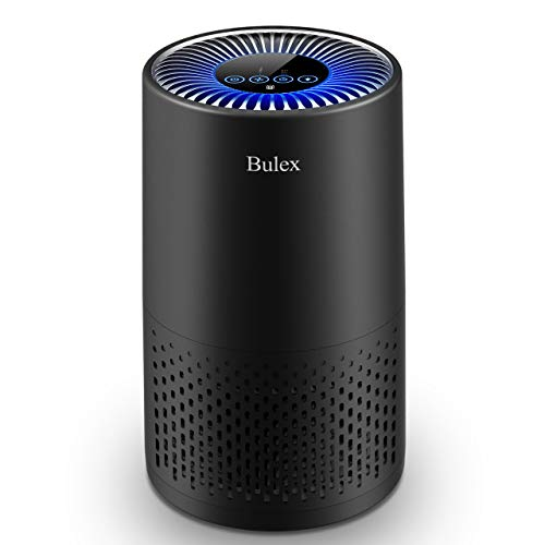 Bulex HEPA Air Purifier Air Purifier with True HEPA Filter for 99.97% Purification, 4-Stage Filtration & Timing Function & Sleep Mode & Night Light, for Hairs Smoke Dust in Home Bedroom Office