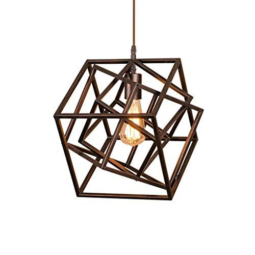 CLJ-LJ Luces pendientes, lámpara retro, taller de reparaciones club de ocio de la lámpara, Fábrica de la Luz de planta cuadrada de la lámpara de la personalidad creativa de estar luz de la habitación