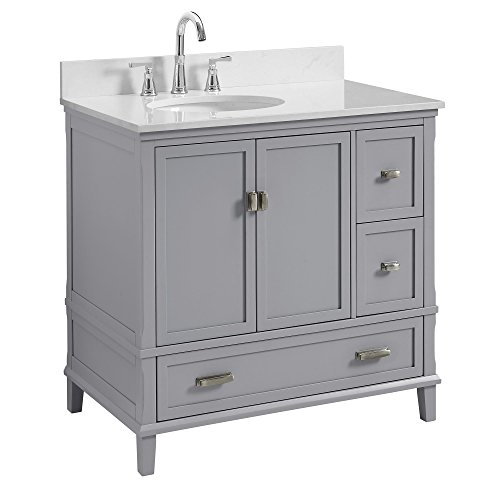 Dorel Living Otum 36 Bathroom Vanity, Gray