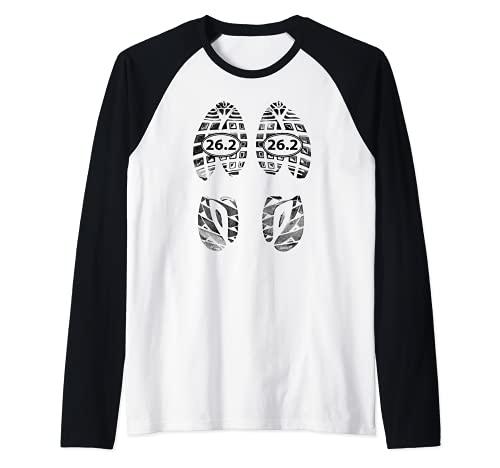 Marathon Runners Gifts – 26.2 Chaussures de course Manche Raglan