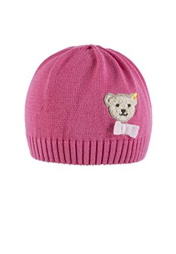 Steiff Baby-Mädchen Strick Mütze, Pink (Fruit Dove|Pink 2203), 53